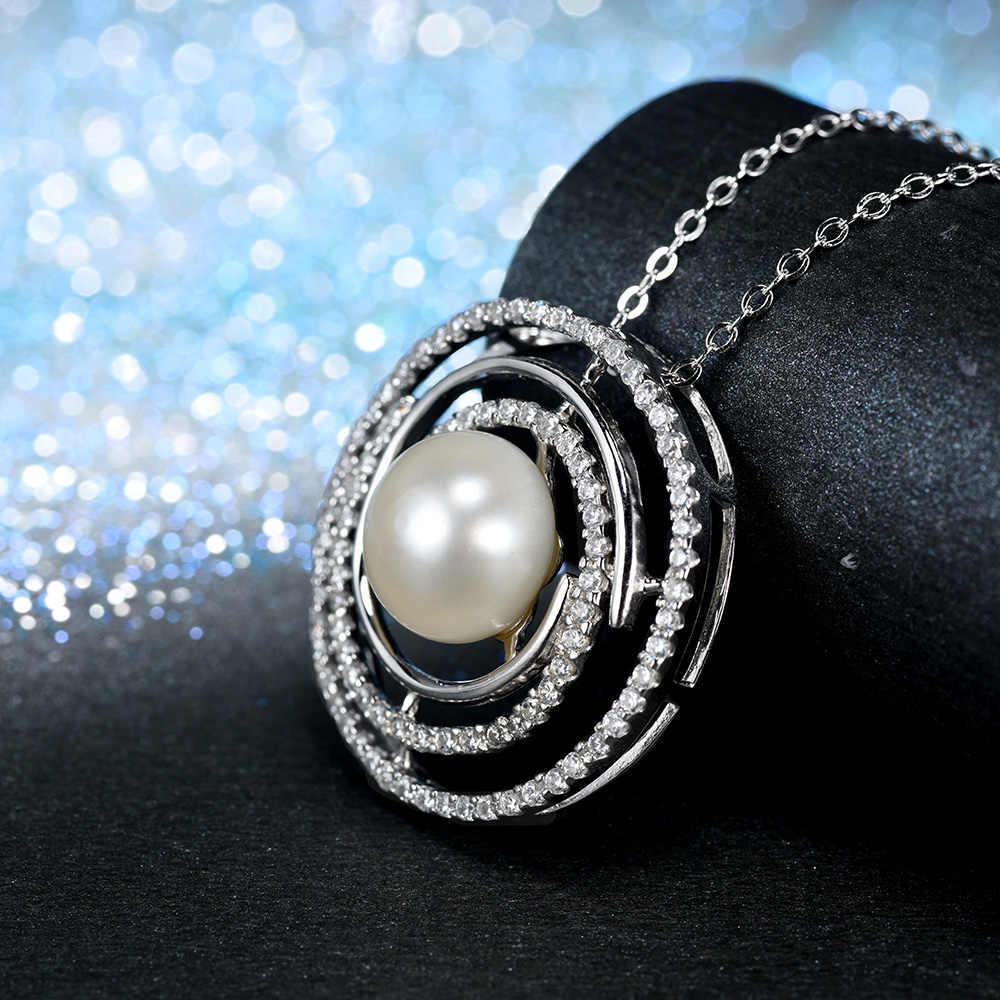 L & zuan Collana Colares Pingentes Para As Mulheres Do Vintage esterlina-prata-jóias Natural de Água Doce Colar de Pérolas Acessórios P0128