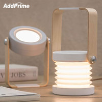 Portable LED Lantern Lights 3D LED Night Light USB Outdoor Flashlight Creative Table Lamp Book Light Home Decor Modern Desk Lamp