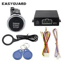 easyguard высокое качество RFID автомобильный сигнал тревоги система W кнопка запуска двигателя и valet режим бесключевая система входа
