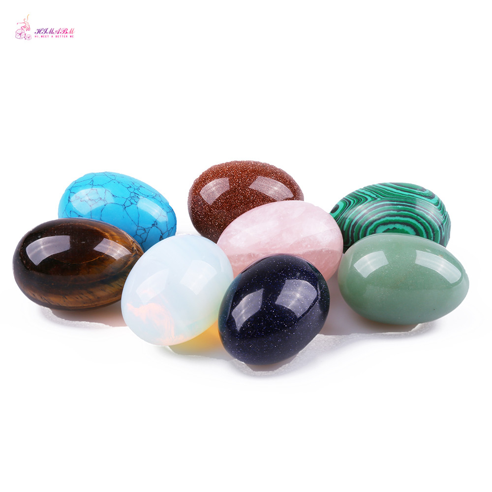 HIMABM 1 Pack Mixed Colour Undrilled Jade Egg For Kegel Exercise Chakra Massage Pelvic Floor Muscles Vaginal Yoni Ben Wa Ball