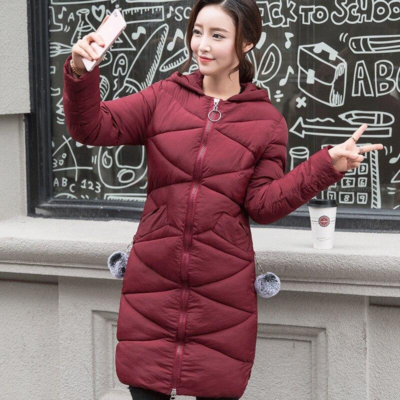 Зимняя куртка хлопка длинный участок Корейской версии самосовершенствование пуховик хлопок студенты пальто прилив
