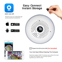 LED Bulb Light 360 Degrees 960P WiFi Panoramic Camera Smart Home LED Lamp Wireless IP Camera 3D VR Fisheye Camera House Security
