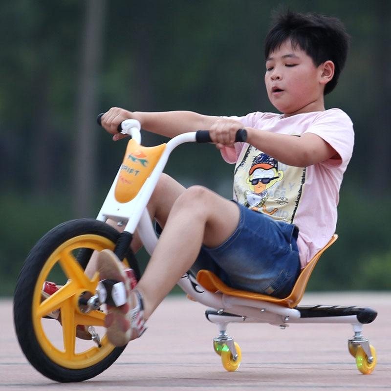 Enfants enfants Balance vélo voiture ajustement Scooter Tricycle vélo bébé marcheur trois roues poussette vélo tour sur voiture jouet 2 ~ 6 Y