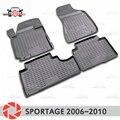 Коврики для Kia Sportage 2006 ~ 2010 коврики Нескользящие полиуретановые грязезащитные аксессуары для интерьера автомобиля