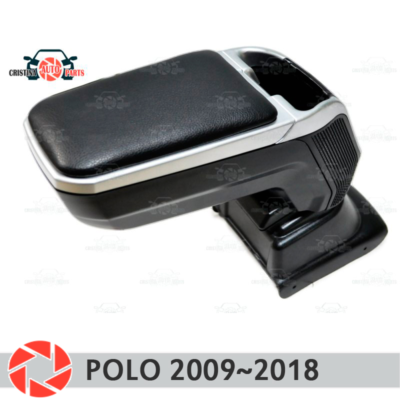 Armrest for Volkswagen Polo 2009~2019 car arm rest central console leather storage box ashtray accessories car styling m2 armrest for opel zafira b 2005 2011 car arm rest central console leather storage box ashtray accessories car styling m2
