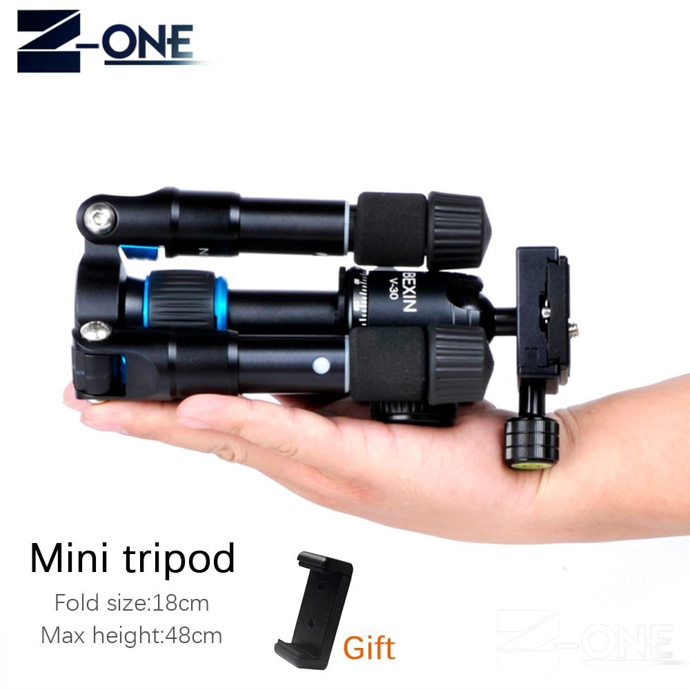 Bexin Алюминий Desktop компактный мини-штатив легкий Камера штатив с Поворотный шаровой головкой для sony Canon Nikon Камера s телефон