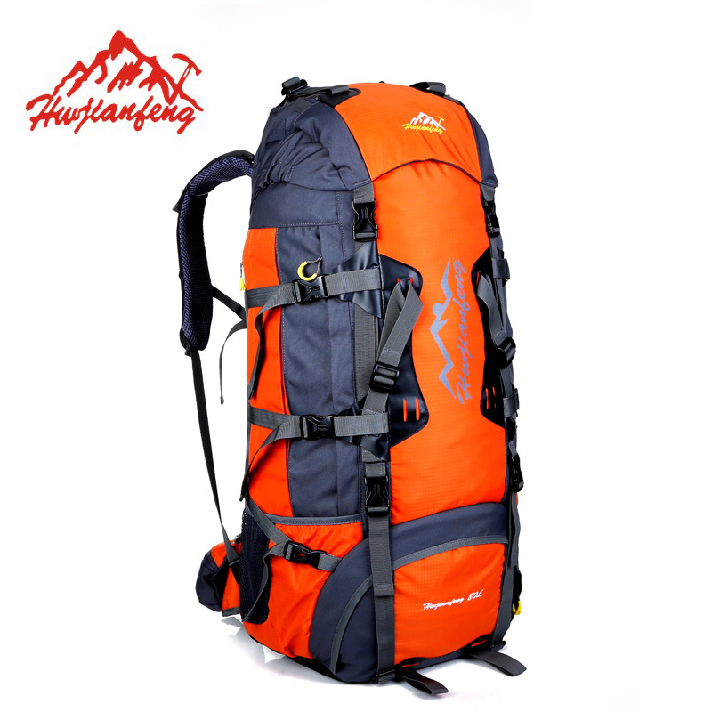 80L Large Outdoor Backpack Camping Travel Bag Hiking Backpack Unisex Tourist Rucksacks Waterproof Sport Bags Climbing Package