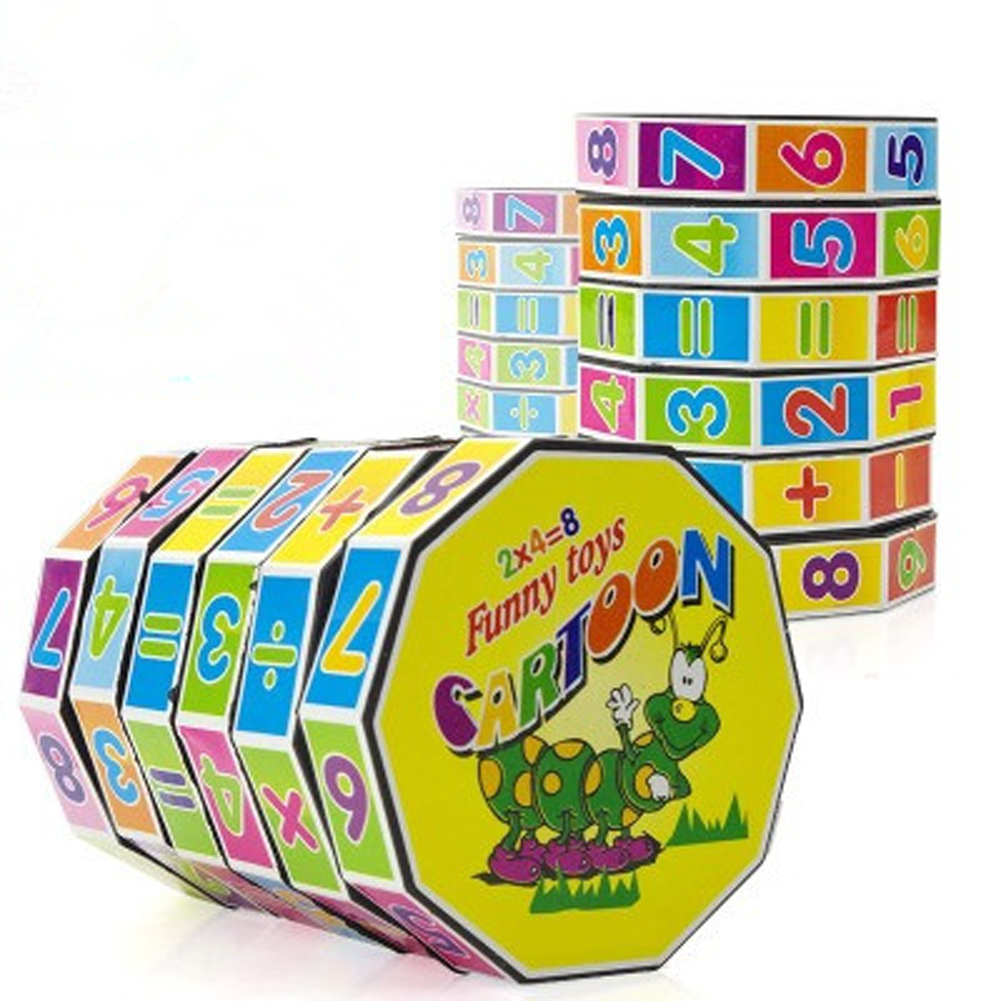 New Educational Puzzle Game Toys Children Intelligent Digital Cube Math For Children Kid ...