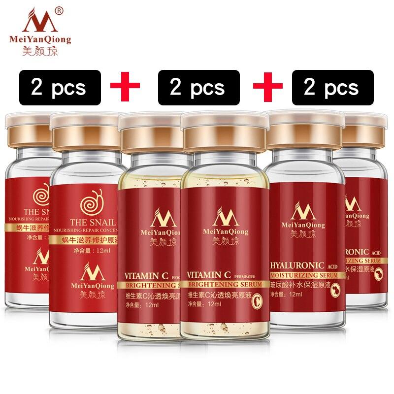 2 * escargot + 2 * Acide Hyaluronique Sérum + VC blanchiment végétale pure liquide blanchissant Hydratant anti-acné rajeunissement Sérum