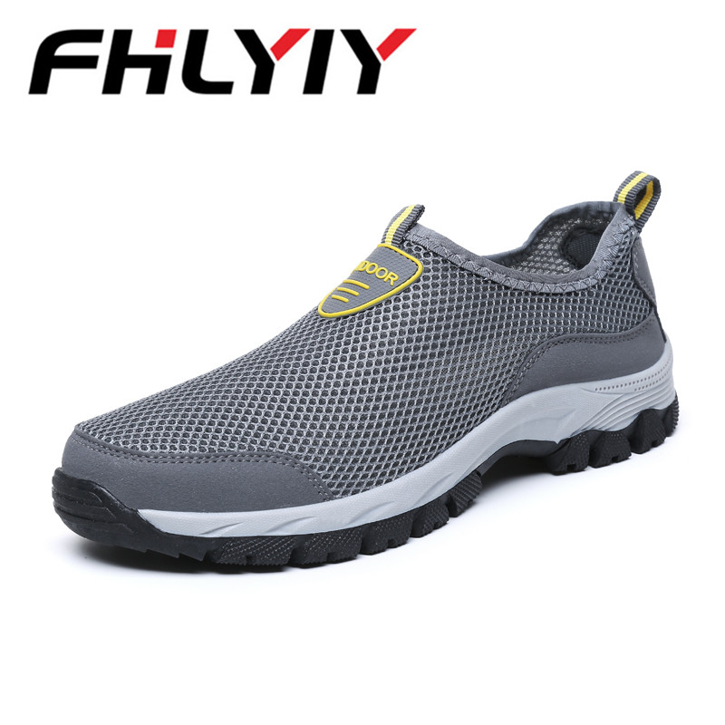 Fashion Men Casual Shoes Slip-on Summer Breathable Mesh Men's Flats Trainers Sneaker Water Loafers Shoe Mens Zapatos Hombre