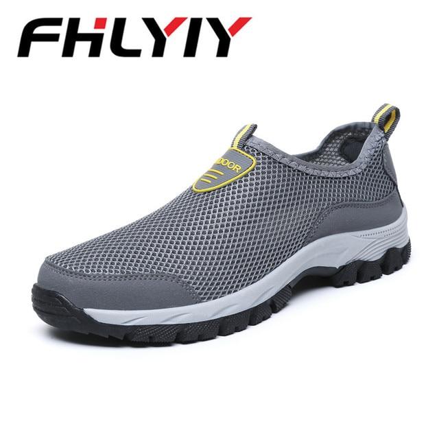 Homens moda Casual Shoes Slip-on Flats Formadores Sapatilha dos homens Malha Respirável de Verão Água Mocassins Mens Sapatos Zapatos hombre