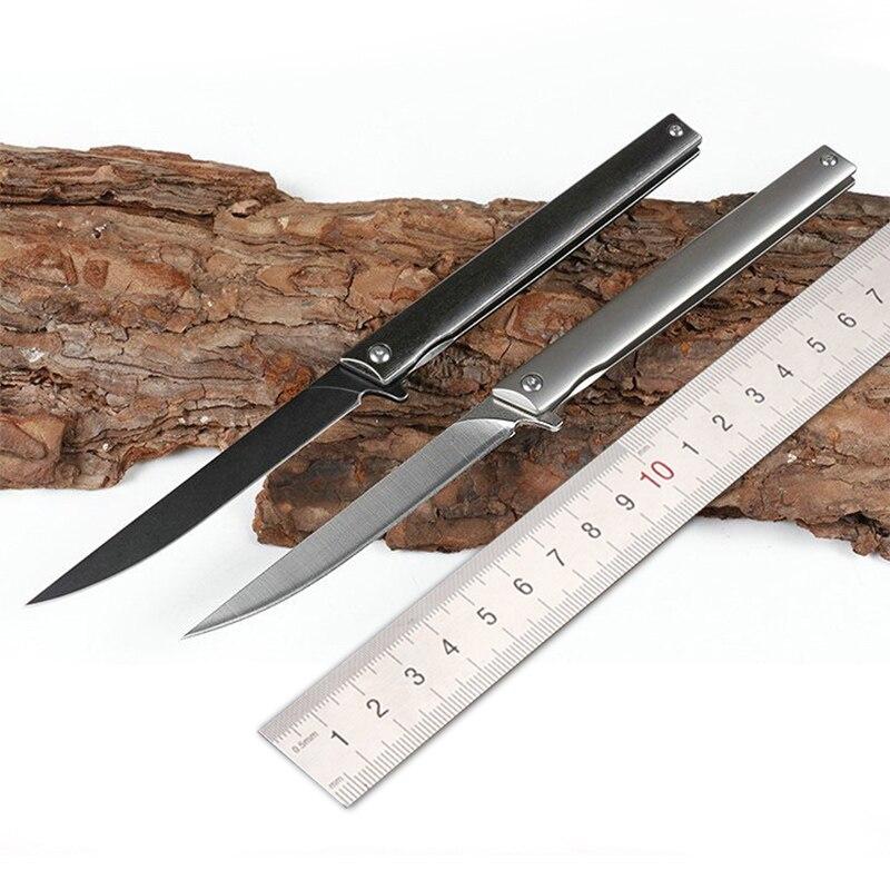 M390 Бог стали порошок высокая твердость выживания карман Ножи армии Ножи TC4 titanium ручка сплава