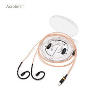 Acrolink IE80 DIY Earphone Pcocc Audio Cable Repair Replacement Headphone with 16 cores knitting