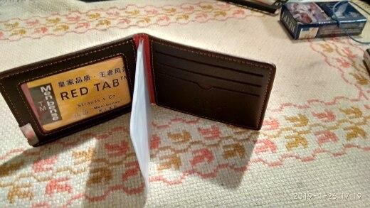 THINKTHENDO Mode Heren Rijbewijs ID Kaarthouder Zakelijke Creditcardhouder Lederen Nieuwe Bifold Portemonnee 3 Kleur photo review
