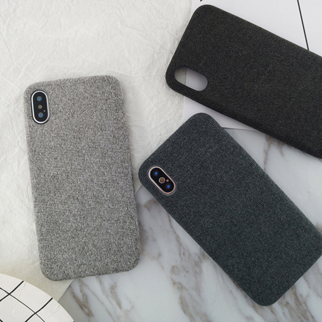 iPhone Warm Plush Fabrics Soft Phone Case For iPhone Back Cover