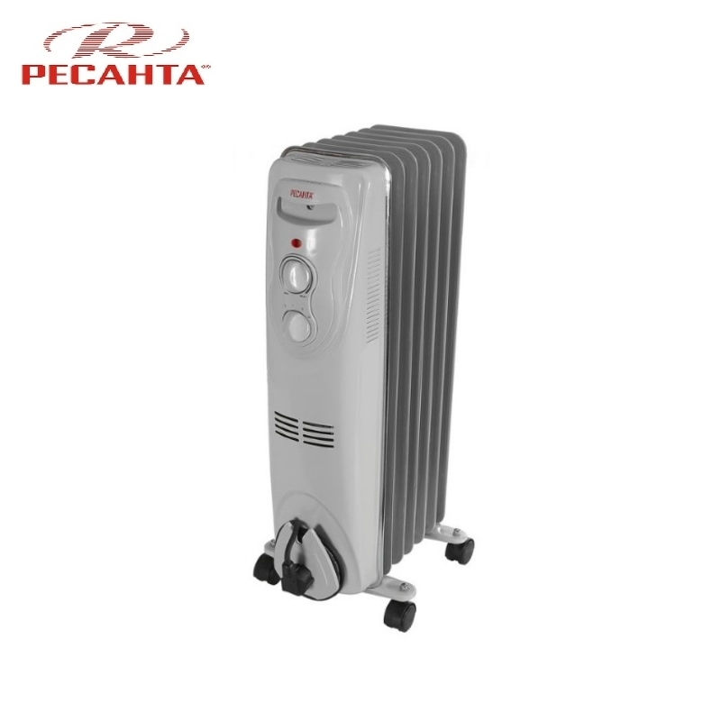 Oil radiator RESANTA OM-7N Air heating Oil heater Space heating Oil filled radiator Sectional radiator