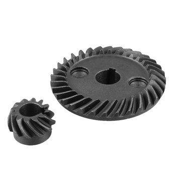 UXCELL Hot Selling Metal Spiral Bevel Gear Set Spiral Teeth Shaft Dia 10mm for Pinion Shaft Dia 8mm For Makita 9523 Angle Sander 4 moudle metal bevel gear 90 degrees one pair 2pieces 1 1 transmission 4m15 teeth
