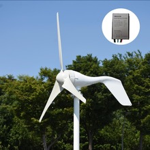 Испания доставка 400 Вт В 12 В/24 В горизонтальный белый ветряной генератор с MPPT/PWM водостойкий ветровой зарядное устройство контроллер домашнего использования