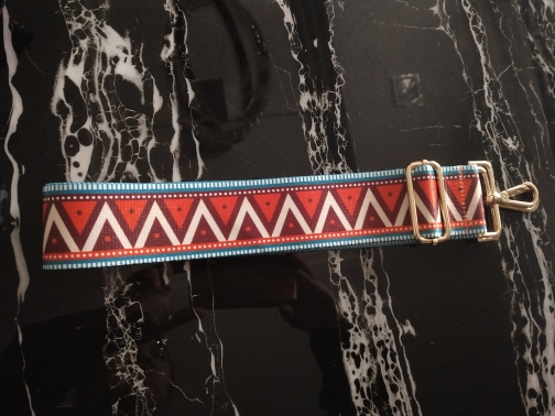 2019 Nieuwe handtassen riem driehoek ontwerp geometrische goud gesp canvas tas bandjes nieuwe trendy gemakkelijk te houden schouderbanden qn331 photo review
