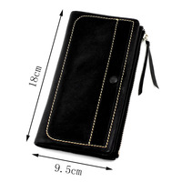 GUBINTU Brand Top Grade Soft Genuine Cow Leather Long Style Men Wallet Leather Clutch Bags With