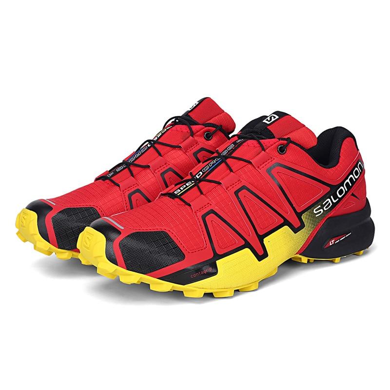 Salomon Chaussures Hommes Speed Cross 4 CS Cross-Country chaussures de Course Chaussures Hommes Chaussures de Sport Noir Blanc Gris Chaussures de Sport
