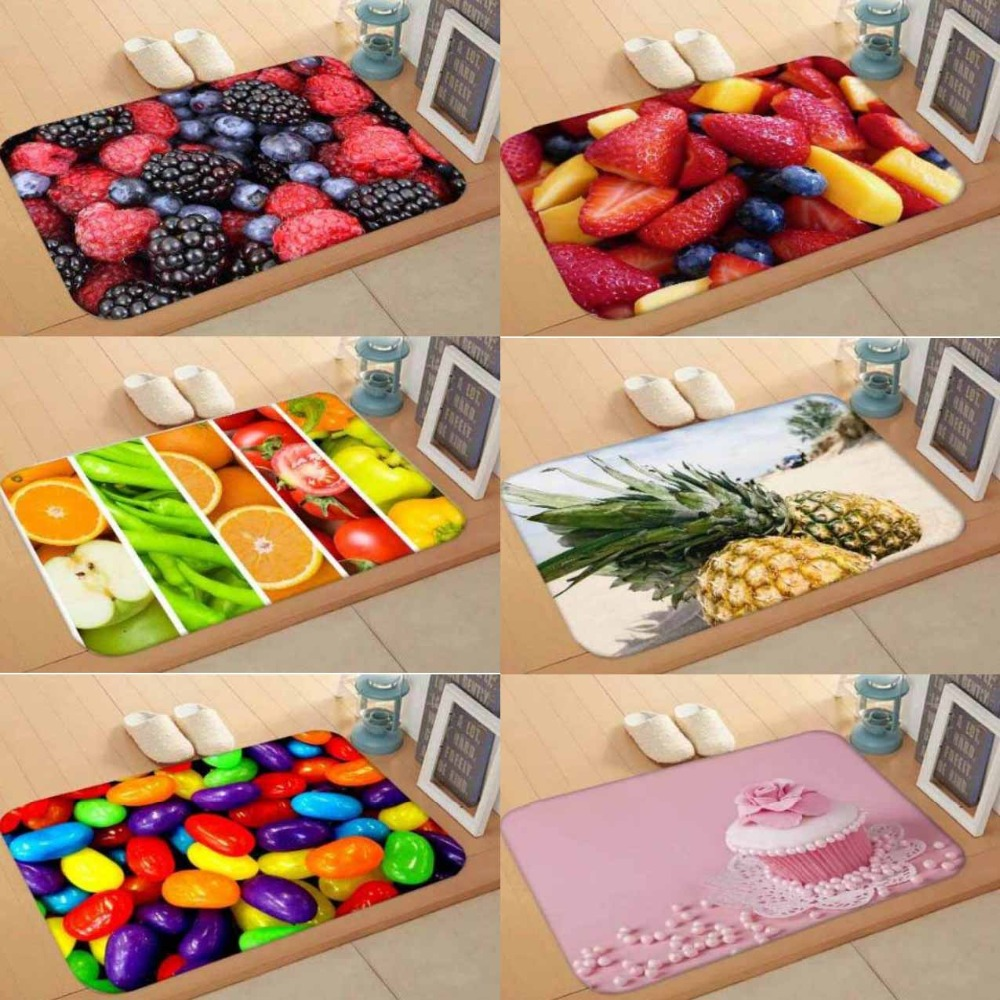 Else Fresh Fruits Yellow Red Green Cupcake 3d Digital Print Modern Decorative Floor Door Mat Home Decor Entryway Kitchen 50x80cm