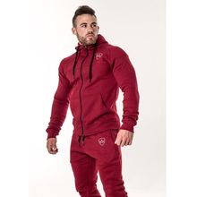 2019 brand sporting suit men gyms hooded tracksuit track polo men's sweat suits set letter print large size sweatsuit male 2XL(China)