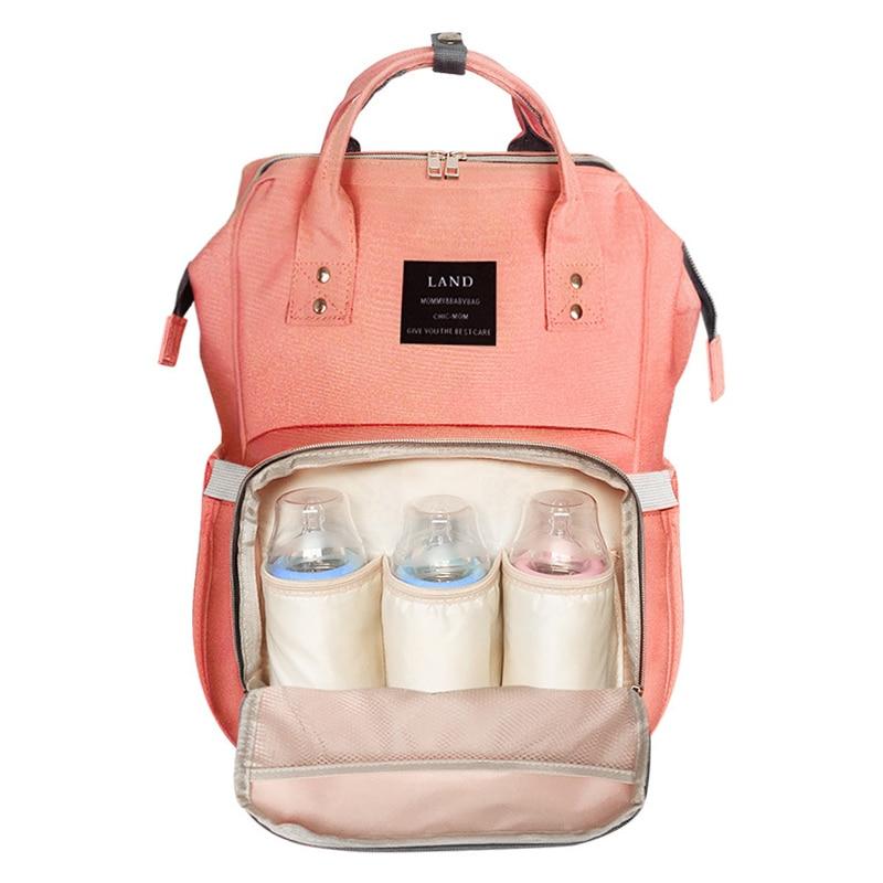Land Fashion Mummy Baby Diaper Bag Maternity Nappy Bag Large Capacity Baby Bag Mochila Bebe Travel Backpack Designer Nursing Bag