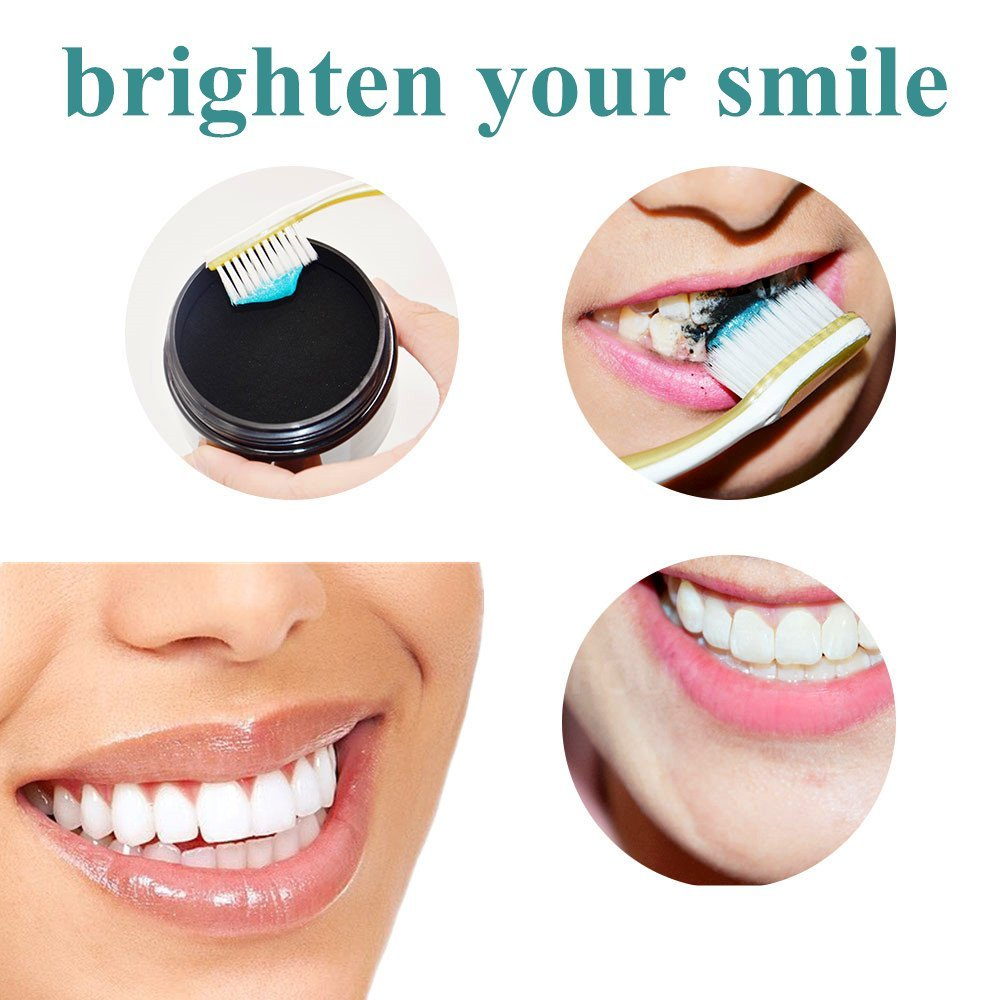 Activated Charcoal Natural Teeth Whitening Powder,Remove coffee stains, Organic Teeth Whitener, Freshens breath 2