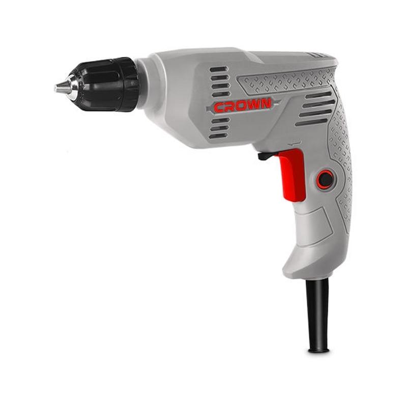 цена на Drill electric CROWN CT10125C (power 300 W, reverse, keyless chuck)