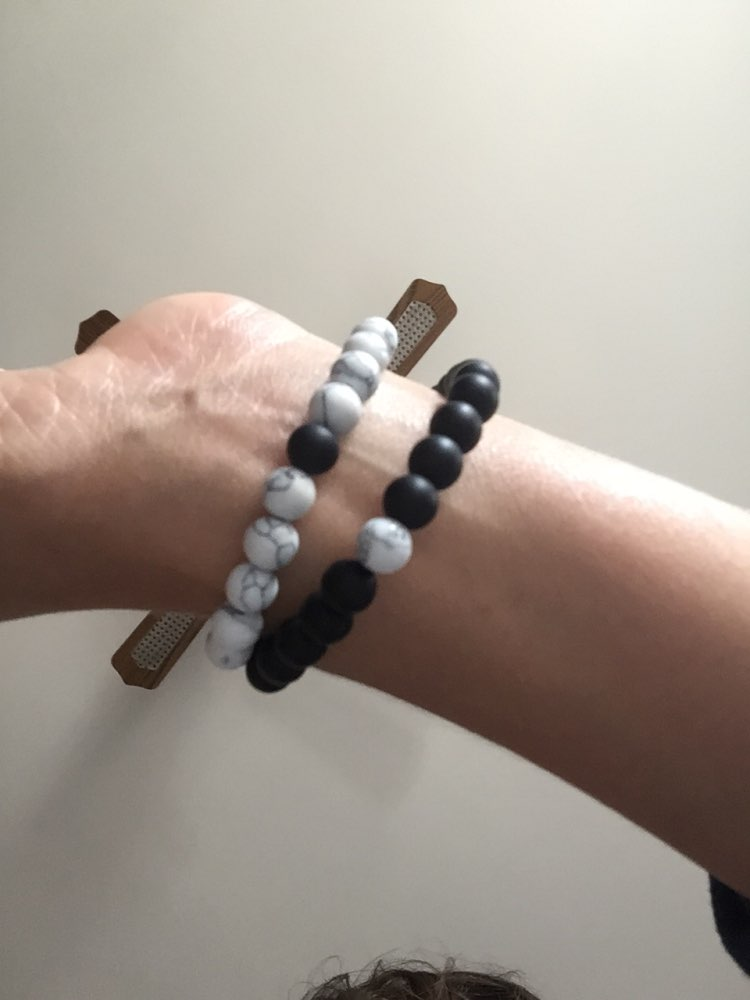 Grey Distance Bracelets - White photo review