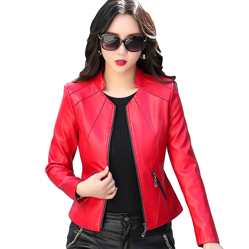 Women Brand Soft Faux Leather Basic Jackets 2018 New Ladies Elegant Zippers Jacket Slim PU Coat Female Outerwear Winter Clothing