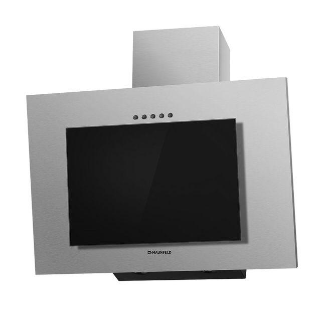 Кухонная вытяжка MAUNFELD Tower Gs 60 нержавеющая сталь\черное стекло