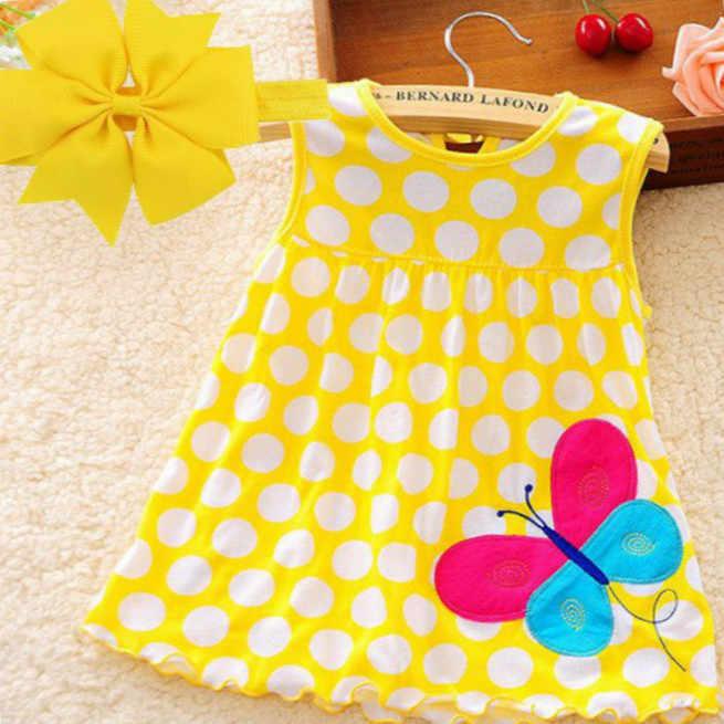 Лидер продаж, лето 2018, платье для маленьких девочек, детское платье с короткими рукавами, для детей 0-2 лет, хлопковая кукла, многоцветная Милая принцесса с фруктами.