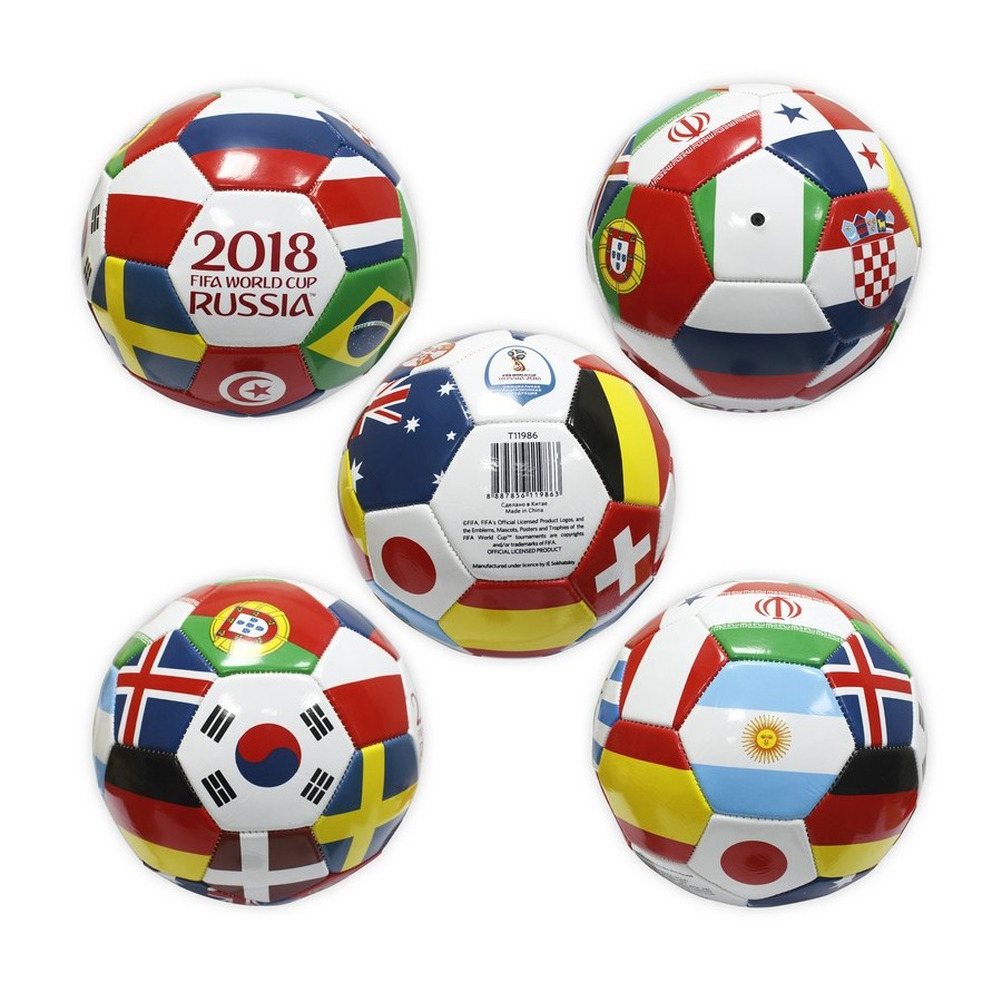 Toy Balls FIFA WORLD CUP RUSSIA 2018 soccer ball Finalist 2mm, 2 layers, PVC, 400g, size 5 (23cm) 24pcs electric guitar fret wire fretwire set 2 2mm