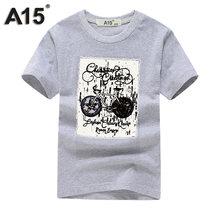 1c8270bbe2562 A15 المطبوعة T قميص لصبي القطن قميص للأولاد الصيف الأطفال الفتيات قمم قصيرة  الأكمام ملابس كبيرة