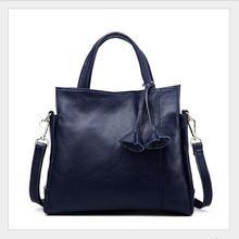 European and American fashion brand ladies handbag classic design high quality leather shopping bag bag Handmade