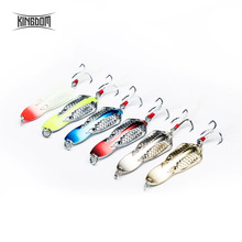 Fishing Lures Strong Hooks Double Hole Scale Spoon  Hard Baits 3PC Full Aqueous Layer Metal Material Good Action Fishing Tackle