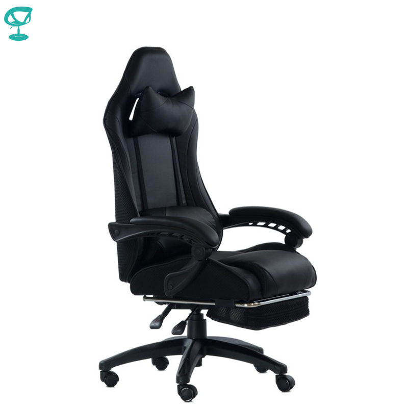 95264 Barneo K-39 Black Gaming Chair Computer Eco-leather Mesh Fabric High Back Plastic Armrests Free Shipping In Russia