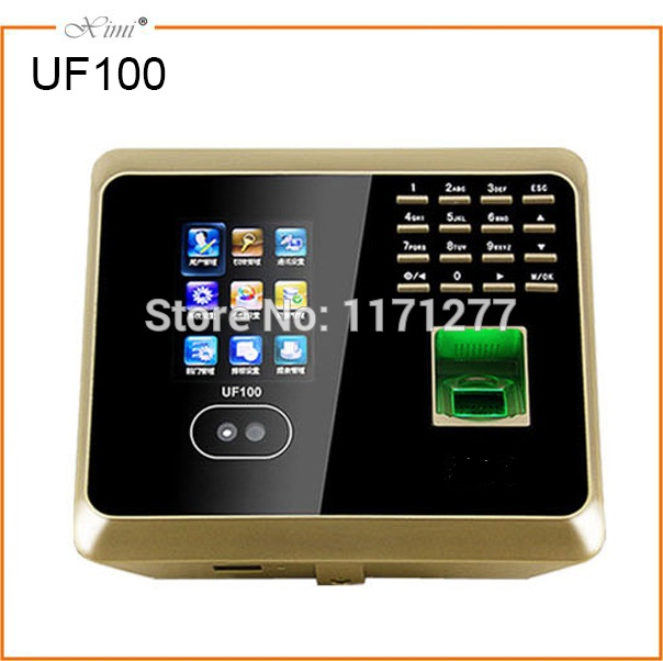 The TFT color screen has a camera WIFI TCP/IP ID card and a biometric time clock for the face fingerprint system