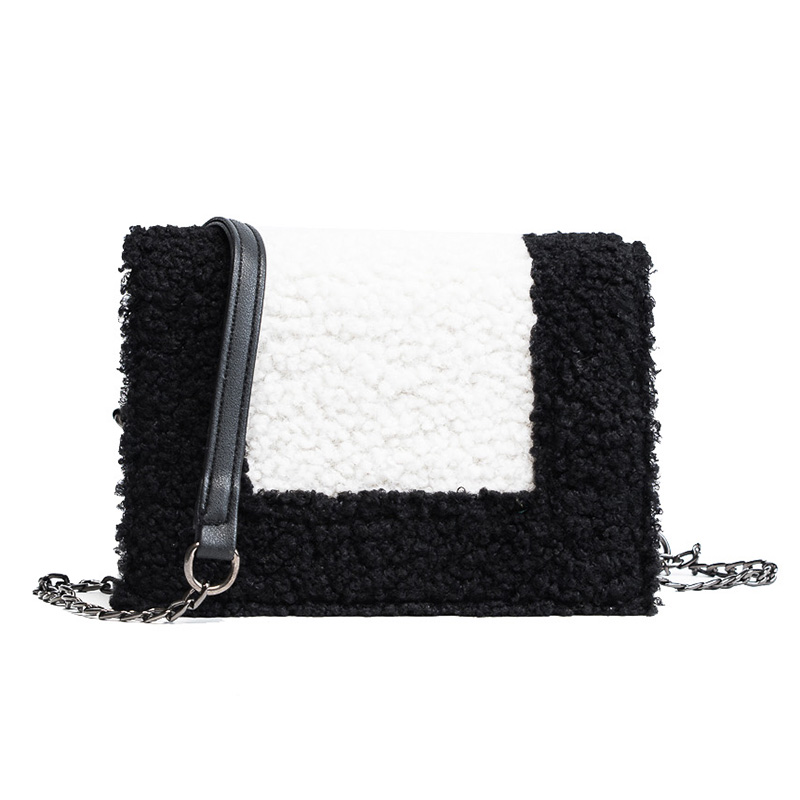 купить Woolen small package Bao Mao female 2018 new Korean handbag shoulder diagonal package chain bag недорого