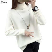 Xnxee 2018 New Arrival Women Winter Sweater Casual Twisted O-Neck Loose Long Sleeve Female Solid Cotton Sweaters