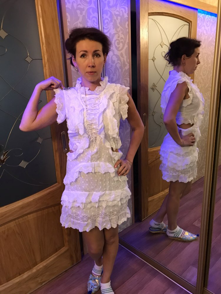 Hollow Out Lace Dresses Women Stand Collar Sleeveless High Waist A Line Dress Female Summer Korean Fashion photo review