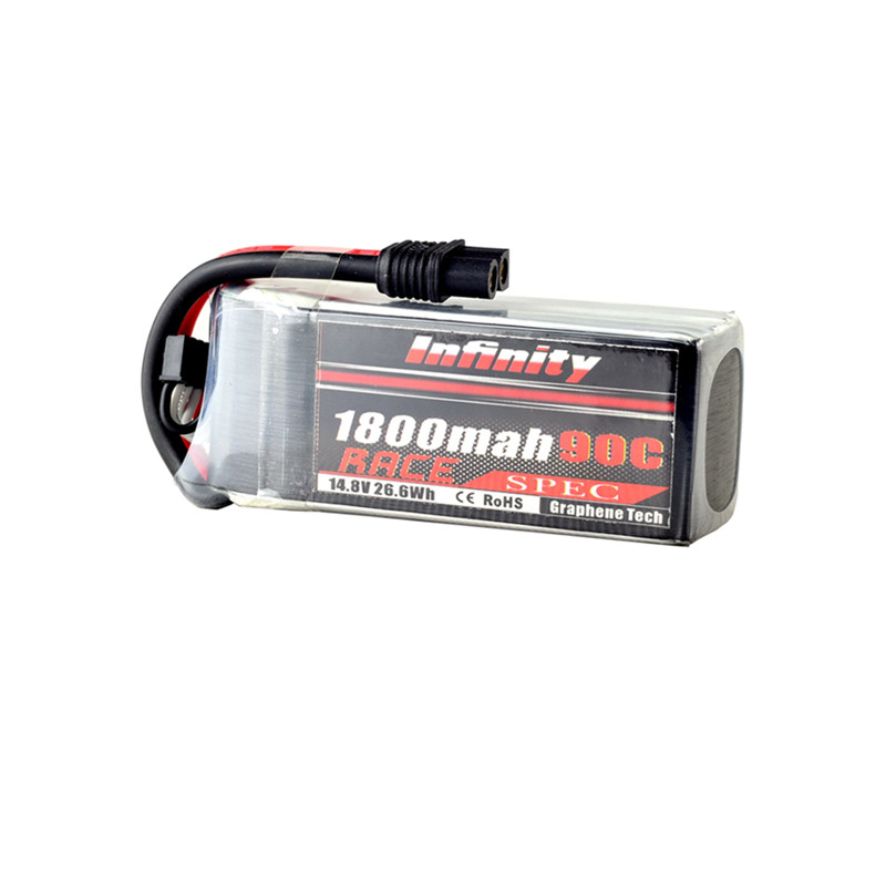 High Quality For Infinity 4S 14.8V 1800mAh 90C Graphene LiPo Battery XT60 SY60 for RC Drone FPV Racing Toys Parts Accs 2018 newest for infinity 14 8v 1800mah 4s1p 80c sy60 xt60 plug rs force edition lipo battery for rc racer drone quadcopter power