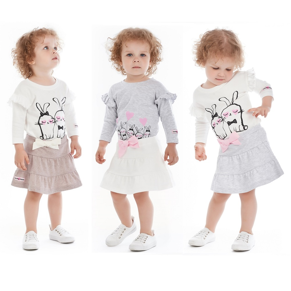 цены на Skirts Lucky Child for girls 56-35 Denim Skirt Children clothes  в интернет-магазинах