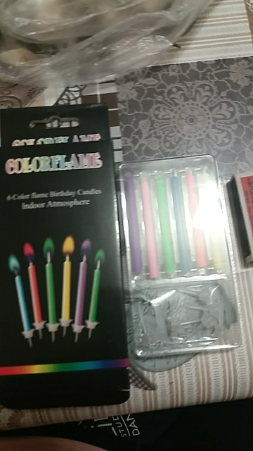 Magic Colored Flame Candles (12Pcs) photo review