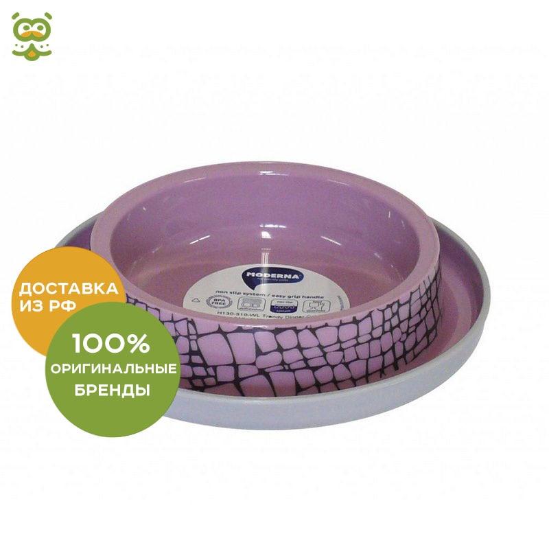Moderna Wildlife plastic non-slip bowl, 210 ml., Pink plastic racing wheel controller for wii pink