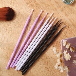 Image 4 - 1000pcs/pack Disposable Makeup Brushes Swab Microbrushes Eyelash Extension Tools Individual Lash Removing Tools