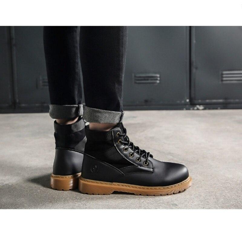 21b54845cd1 Militaires Hot Plein Tacticos D hiver Zapatos Combat En Angleterre Botas  Chaussures Mâle De Hommes Air La Noir Rétro À Bottes Mode ...