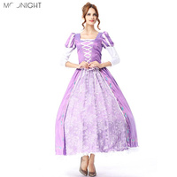 MOONIGHT Hallowen Cosplay Costume Alice In Wonderland Cosplay Queen Costume For Women Princes Fairy Costume Elegant Purple dress